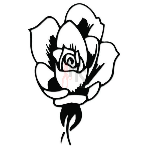 Rose Flower Decal Sticker Style 8