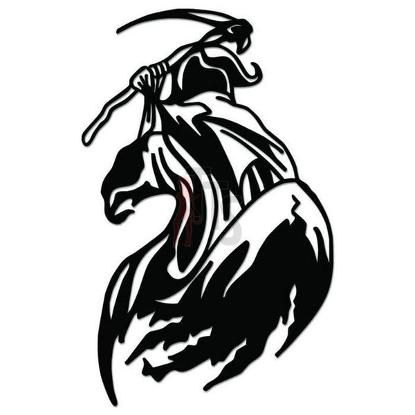 Grim Reaper Death Angel Decal Sticker Style 9