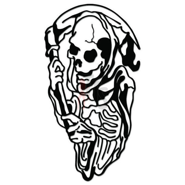 Grim Reaper Death Angel Decal Sticker Style 10