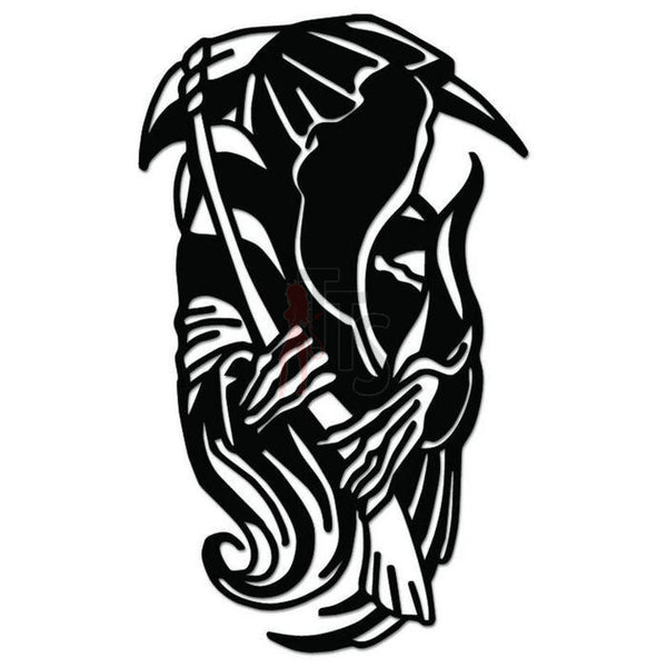 Grim Reaper Death Angel Decal Sticker Style 7