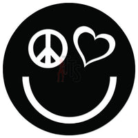 Happy Smiley Love Peace Decal Sticker