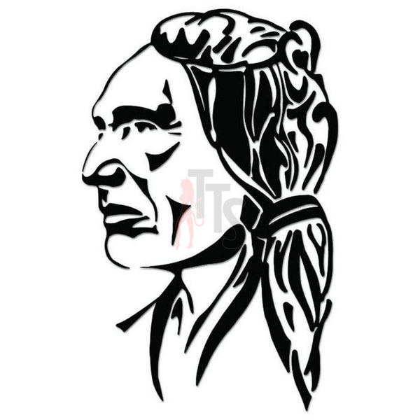 American Indian Decal Sticker Style 1