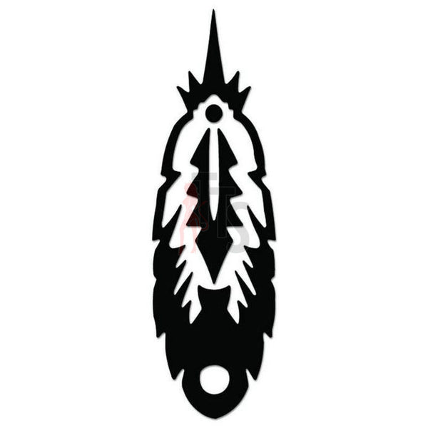 Indian Feather Decal Sticker Style 1