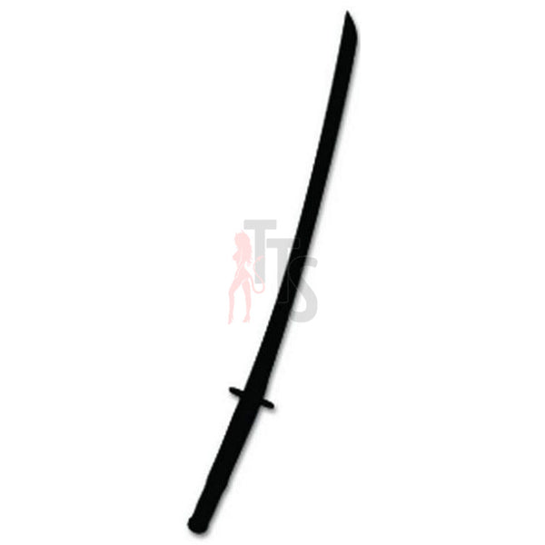 Japanese Sword Weapon Decal Sticker Style 1