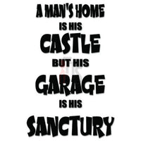 Man Castle Garage Decal Sticker