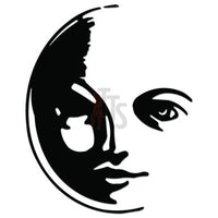 Moon Face Decal Sticker