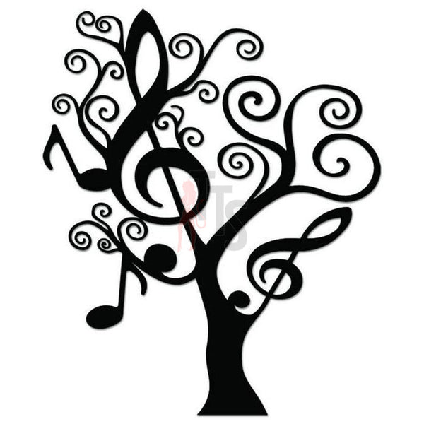 Music Symbols Tree Decal Sticker