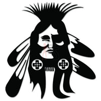 American Indian Decal Sticker Style 4