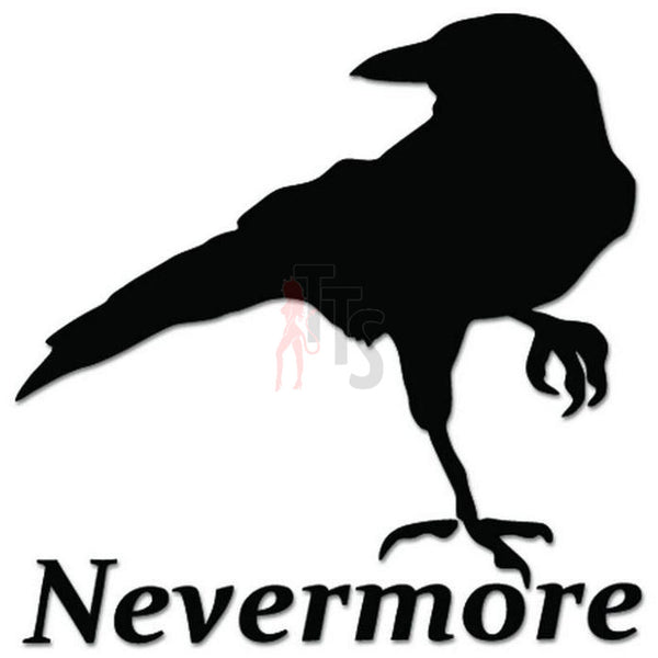Raven Nevermore Edgar Allan Poe Decal Sticker Style 2