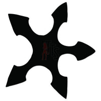 Ninja Star Weapon Decal Sticker Style 2