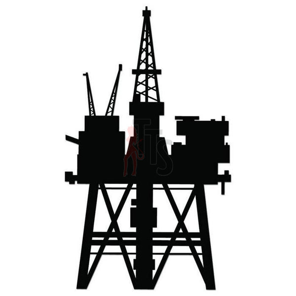 Oil Rig Decal Sticker