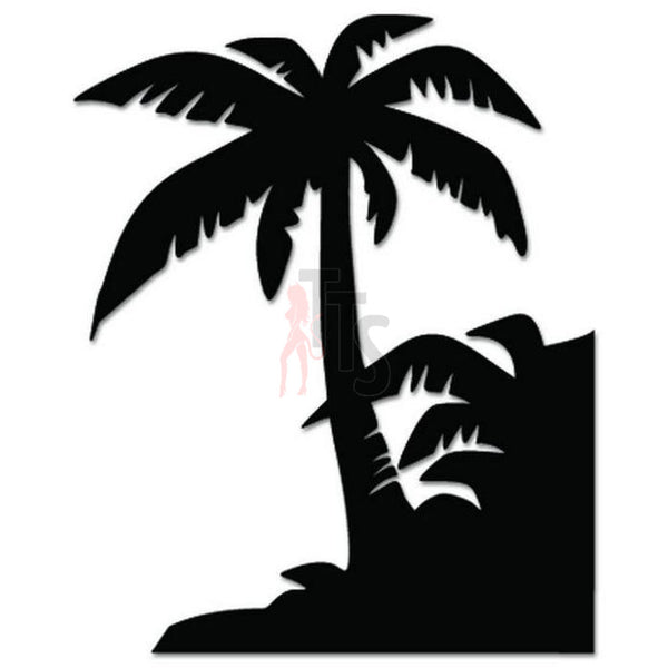 Palm Tree Beach Decal Sticker Style 11
