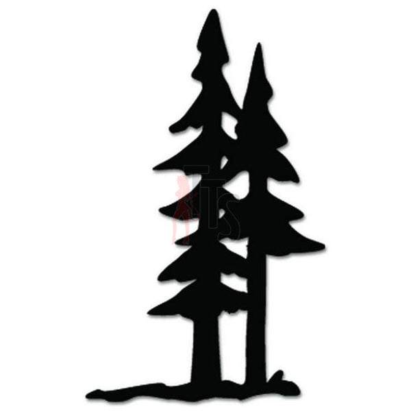 Pine Trees Decal Sticker