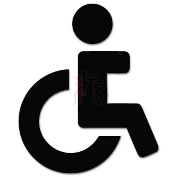 Handicap Restroom Sign Decal Sticker