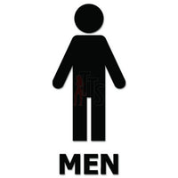Men Restroom Sign Decal Sticker