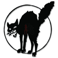 Scary Cat Halloween Decal Sticker