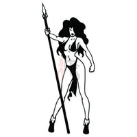 Sexy Girl Amazon Warrior Decal Sticker Style 1