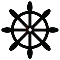 Ship Wheel Decal Sticker Style 1