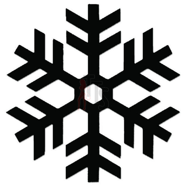 Snowflake Winter Decal Sticker Style 1