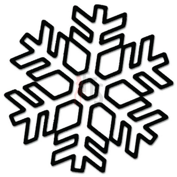 Snowflake Winter Decal Sticker Style 4