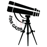 Stargazer Telescope Decal Sticker