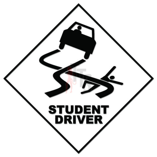 Caution Student Driver Decal Sticker
