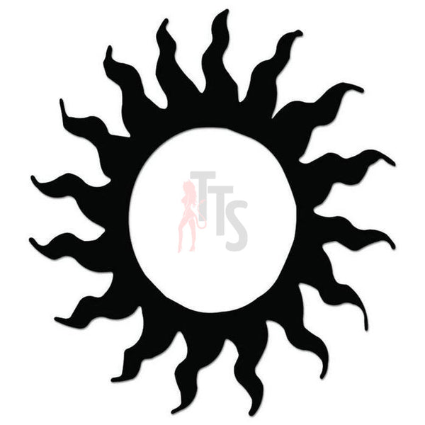 Sun Tribal Art Decal Sticker Style 11