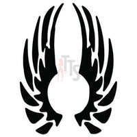 Angel Wings Tribal Art Decal Sticker Style 1