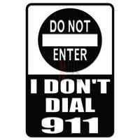 Warning Dial 911 Decal Sticker Style 2