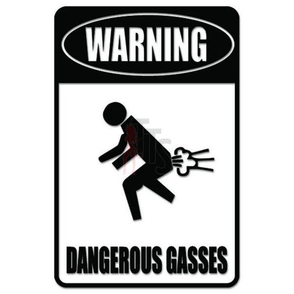 Warning Farting Sign Decal Sticker