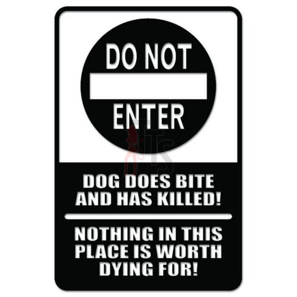 Warning DO NOT ENTER Sign Decal Sticker