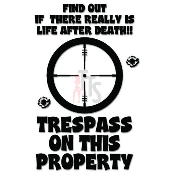 Warning Trespass Sign Decal Sticker