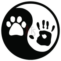 Ying Yang Dog Owner Print Decal Sticker