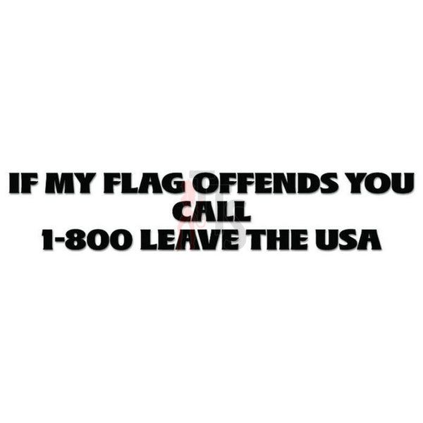 Flag USA Quote Saying Decal Sticker