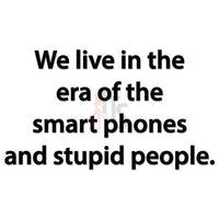 Smart Phones Stupid People Quote Saying Decal Sticker