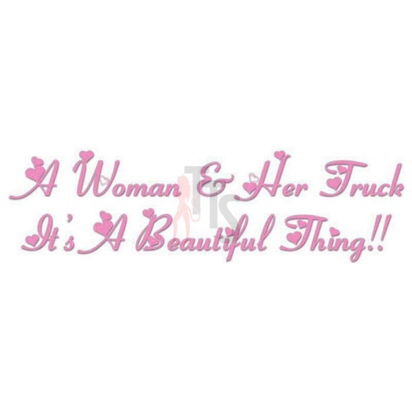 Women Beautiful Thing Quote Saying Decal Sticker