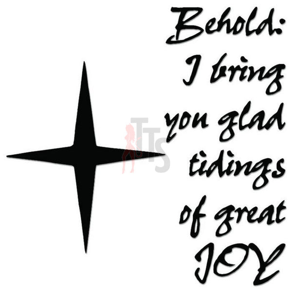 North Star Joy Quote Saying Decal Sticker