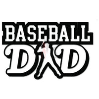 Baseball Dad Decal Sticker
