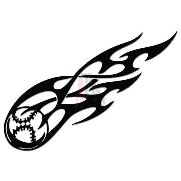 Flame Baseball Tribal Art Decal Sticker