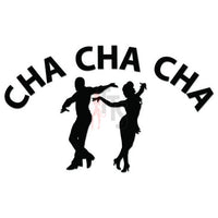 Cha Cha Dancing Dancers Decal Sticker