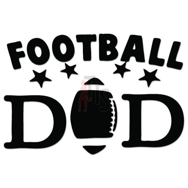 Football Dad Decal Sticker Style 1