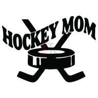 Hockey Mom Sport Decal Sticker Style 1