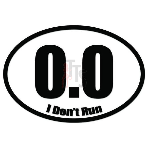 0.0 Mile Marathon Runner Decal Sticker