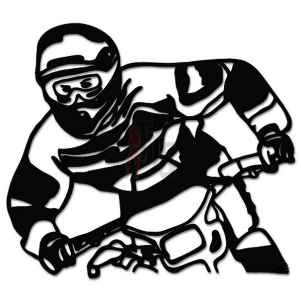 Motocross Rider Bike Decal Sticker Style 1