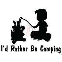 Rather Be Camping Decal Sticker