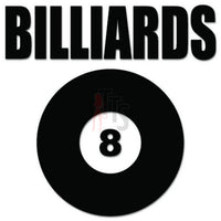 Billiards 8 Ball Decal Sticker