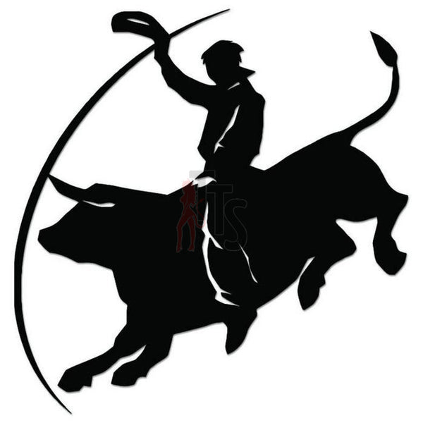 Bullriding Cowboy Decal Sticker Style 1