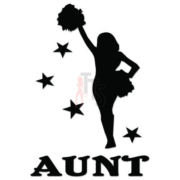 Cheer Aunt Cheerleading Decal Sticker