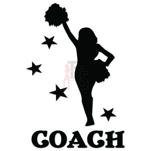 Cheer Coach Cheerleading Decal Sticker Style 3