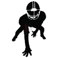 Football Player Decal Sticker